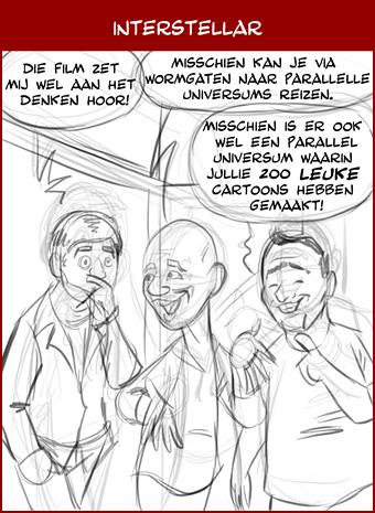 Hoe komen de cartoons tot stand: tweede schets