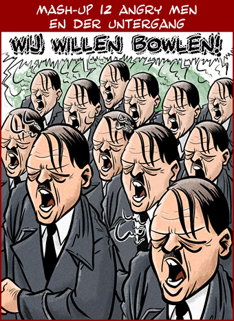 Cartoon: 12 Angry Men vs Der Untergang