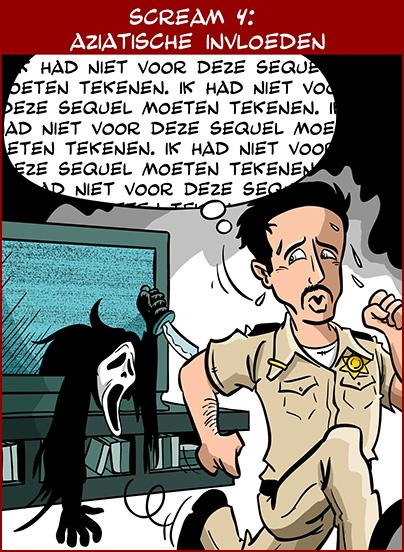 De uiteindelijke cartoon over Scream 4