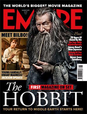 Gandalf op de cover van Empire - The Hobbit